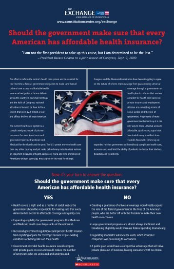 Should the government make sure that every American has ...