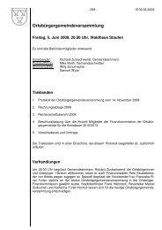 Ortsbürgergemeindeversammlung - Staufen