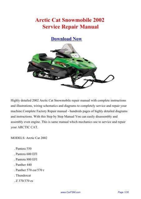 [TBQL_4184]  2002 Arctic Cat Snowmobile Workshop Manual - Repair manual | Arctic Cat Spirit 440 Wiring Diagram |  | Yumpu