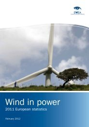 Wind in poWer: 2011 - European Wind Energy Association