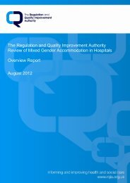 RQIA Review of Mixed Gender Accommodation in Hospitals