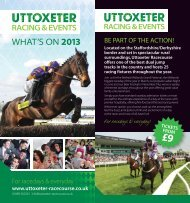 Download our 2013 Raceday Leaflet (pdf, 4.5mb) - Uttoxeter ...
