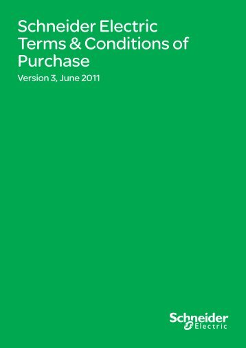 Schneider Electric Terms & Conditions of Purchase