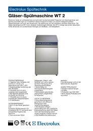 Gläser-Spülmaschine WT 2 - Electrolux