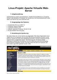Linux-Projekt: Apache Virtuelle Web- Server
