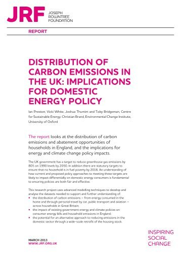 Implications for domestic energy policy - Joseph Rowntree Foundation