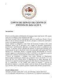Carta dei servizi di Dialisi Ulss5
