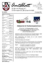 Amtsblatt der Gemeinde Hergatz