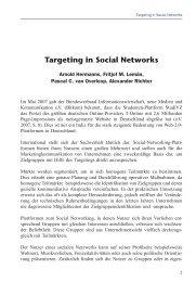 Page 1 Targeting in Social Networks 1 Im Mai 2007 gab der ...
