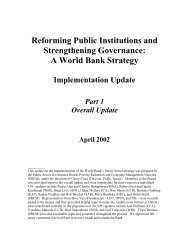 Reforming Public Institutions and Strengthening ... - World Bank