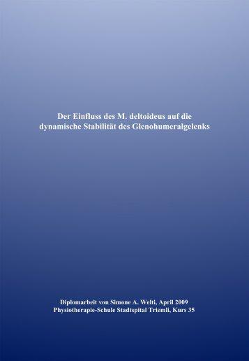 Der Einfluss des M. deltoideus auf die dynamische ... - Pflegeportal