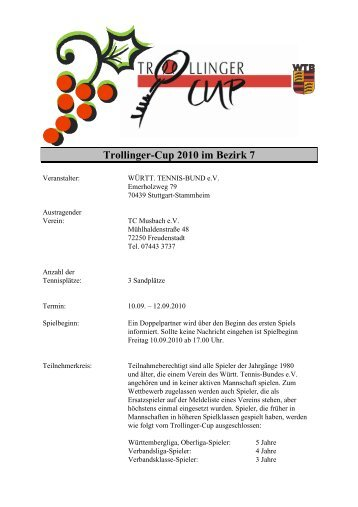 Trollinger-Cup 2010 im Bezirk 7 - WTB