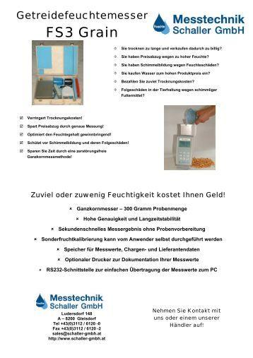 Getreidefeuchtemesser FS3 Grain - Schaller GmbH