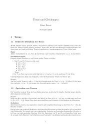 Terme und Gleichungen - Rainer Hauser