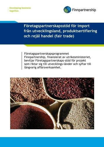 Företagspartnerskapsstöd för import från ... - Finnpartnership