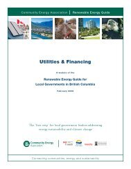utilities and financing - Community Energy Association