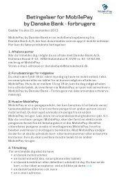 Se alle betingelser for MobilePay - Danske Bank