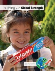 Building On Global Strength - Colgate