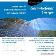 Folder garantiefonds energie [2011] (PDF, 199 kB) - Provincie Utrecht