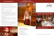 Kulinarischer Kalender 2014 - ACHAT Hotels
