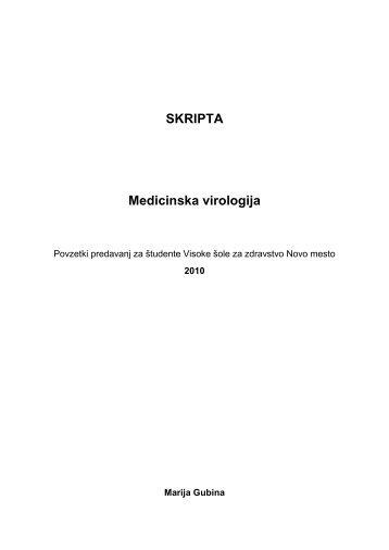 SKRIPTA Medicinska virologija - Visoka Å¡ola za zdravstvo Novo mesto