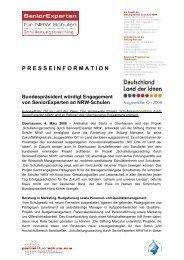 Pressemitteilung - Stiftung Mercator