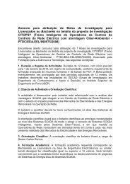 Anúncio para atribuição de Bolsa de Investigação para Licenciados ...