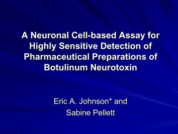 Primary Rat Spinal Cord Cells Assay for Botulinum Toxin ... - IIR