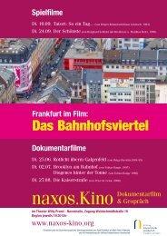 """""""Frankfurt im Film"""" auf das Bahnhofsviertel - Naxos-Kino Programm"""