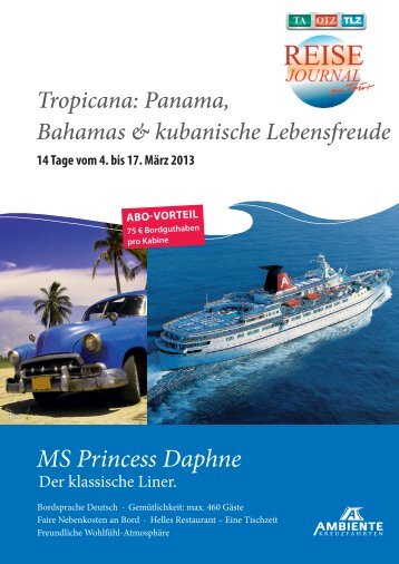 MS Princess Daphne - Zeitungsgruppe Thüringen