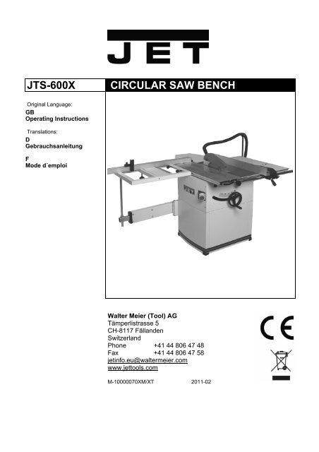 JTS-600X CIRCULAR SAW BENCH - JET 8add05ade884