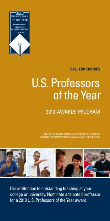 2013 Call for Entries Brochure - US Professor of the Year Awards