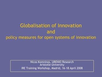 Globalisation of Innovation Networks - Urenio