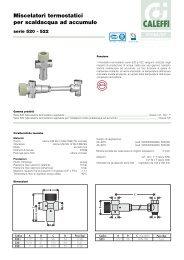 Miscelatori termostatici per scaldacqua ad accumulo - Caleffi