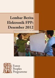 Lembar Berita Elektronik FPP: Desember 2012 - Forest Peoples ...