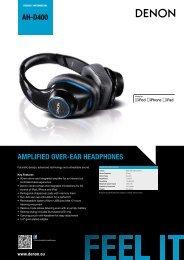 AH-D400 AMPLIFIED OVER-EAR HEADPHONES - Studio 22
