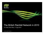 The British Rainfall Network in 2010