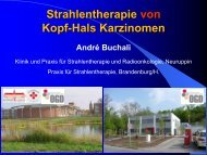 Strahlentherapie und Radiochemotherapie bei HNO-Tumoren