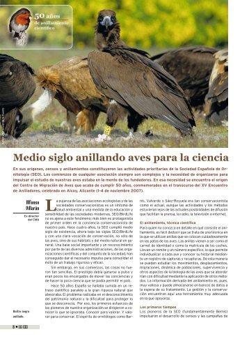Medio siglo anillando aves para la ciencia - SEO/BirdLife