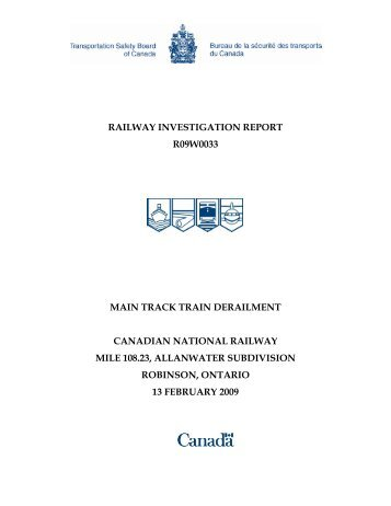 railway safety act canada pdf