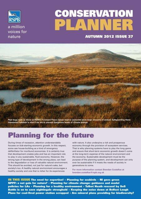 Conservation Planner Autumn 2012 - Issue 37 - RSPB