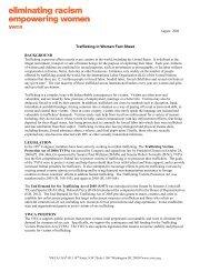 August 2006 Trafficking in Women Fact Sheet - YWCA USA