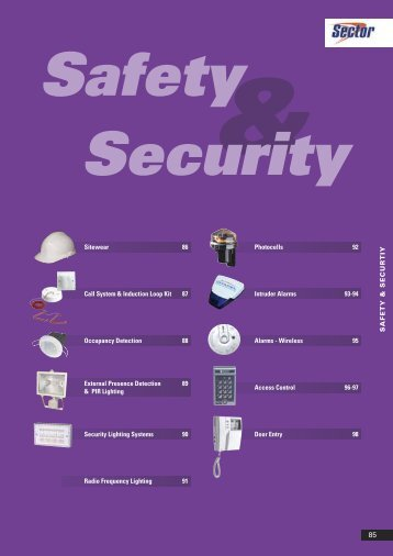 Safety & Security - WF Senate