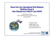 News from the International Soil Moisture Working Group ... - SMOS