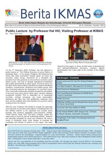 Berita IKMAS - Universiti Kebangsaan Malaysia