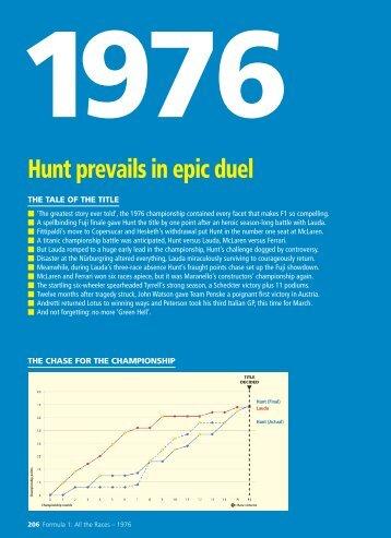 Hunt prevails in epic duel