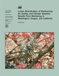 Lichen Bioindication of Biodiversity, Air Quality, and ... - GIS at NACSE