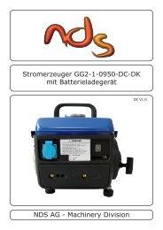 NDS AG - Machinery Division Stromerzeuger ... - Bootselektronik.at