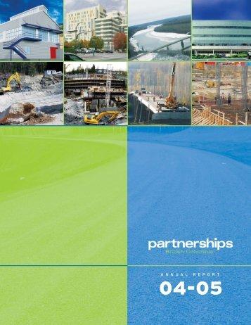 annual report 04–05 - Partnerships British Columbia