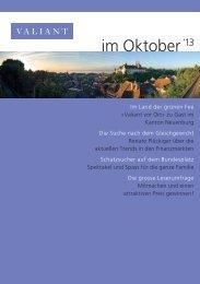 im Oktober '13 (PDF, 1793.2 KB) - Valiant Bank